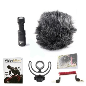 Image 5 - רכבו המקורי VideoMicro הקלטת מיקרופון ראיון מיקרופון עבור Canon Nikon Sony DSLR מצלמה Smartphone Vlog וידאו צילום