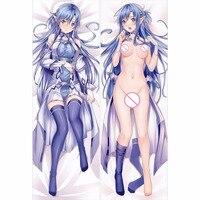 Sword Art Online Anime Seksi Hugging Vücut Yastık Kılıfı Kapakları Pet Yastık Kapak 50X150 CM 2way Triko
