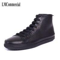 Fabrikanten groothandel echt, lederen casual Britse mannen korte laarzen, streep, hoge laarzen, herenschoenen