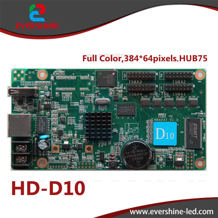 D10 HD-D10 RGB door lintel full color 256 gray scale taxi roof,bus advertising LED display controller card supports 384*64pixels dmx512 digital display 24ch dmx address controller dc5v 24v each ch max 3a 8 groups rgb controller