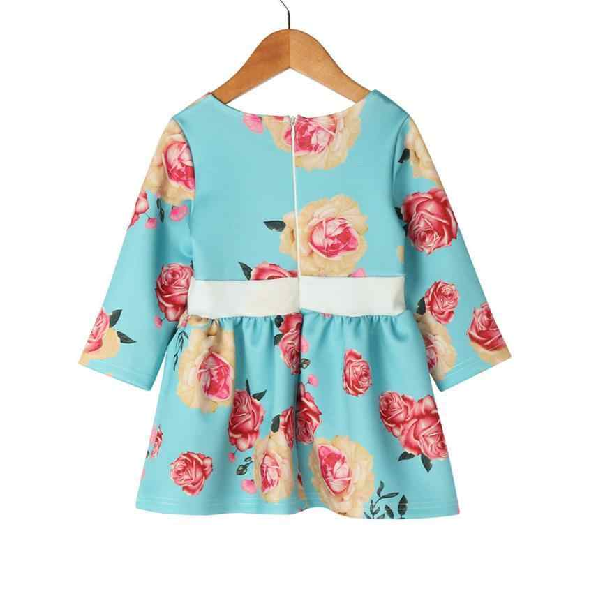 ... Mother Daughter floral print Dress Family Matching Outfits Fashion Mommy  and Me Long Dress Family Fitted ... 5ef175530544