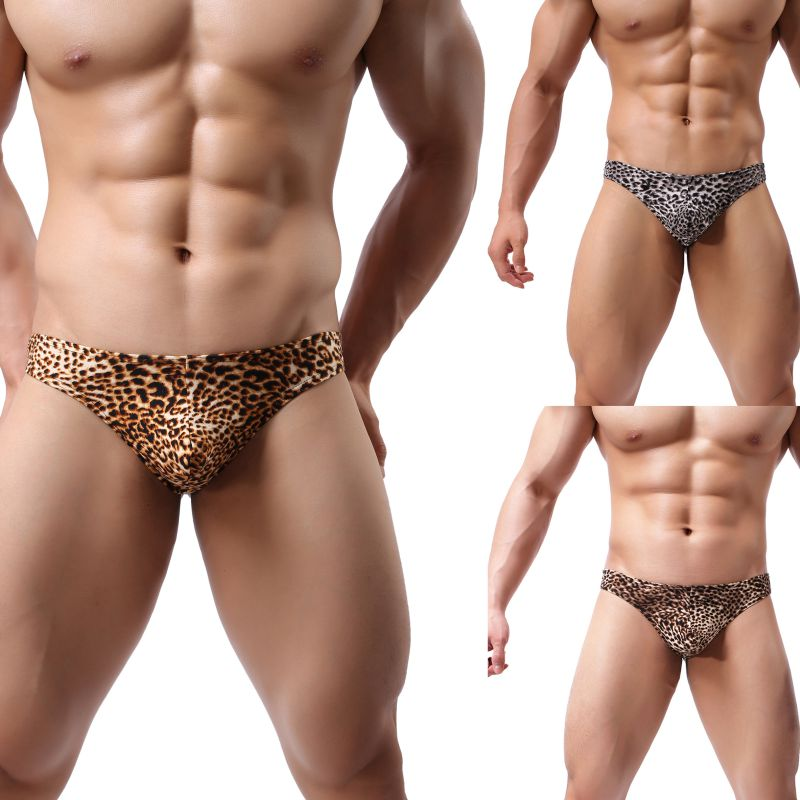 2019 Men's Sexy T-Back Thongs G-Strings Male Leopard Print Low-Rise Man Comfortable Underwear