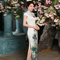 High Thigh Slit Cheongsam Long Air Fresh Tang suit Qipao Chinese Oriental Dresses Traditional Dress For Women
