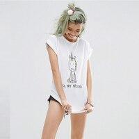 Women Casual Unicorn T-shirt Harajuku Blusa Tops Crew Neck White Short Sleeve T shirt Lady Tees Y1118-43D