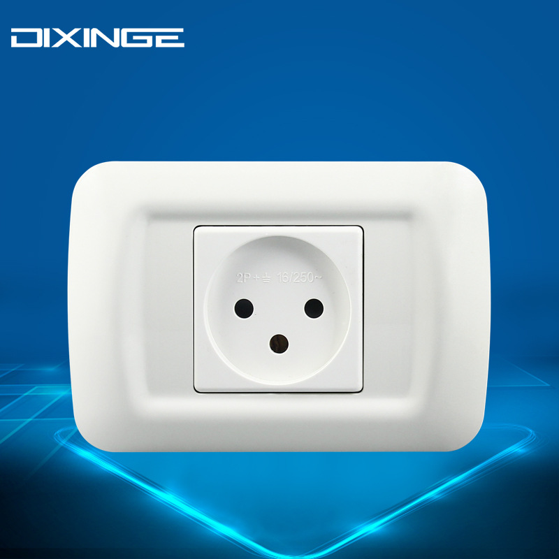 Israel Standard 118 PC Panel Italian Outlet 16A Israeli Standard Three-hole Wall Single Socket