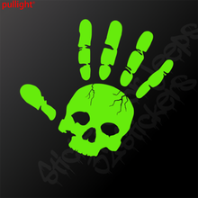 Skull corrugated ethylene decals / stickers Remarks left or right