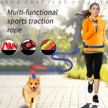 Reflective Elastic Dog Leash Nylon Breakaway Running Hand Free Waist Belt Jogging Leads Retractable Leashes for Small Pet Dogs