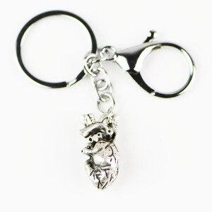 Брелок для ключей Stranger Things, Реалистичный, анатомический, с подвеской в виде сердца, Anahtarlik, панк, металлические брелки A103