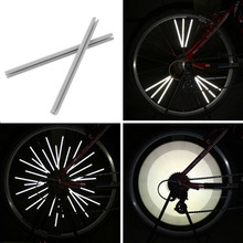 12pcs Reflective Mount Clip Tube Warning Strip Bicycle bike Wheel Spoke Reflector mountain rear bike reflector light reflector