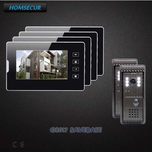 HOMSECUR 2v4 7 Wired Video Door Entry Call System with Quality Night-Vision with Color Images for Home Security