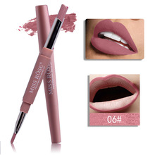 Miss rose lipstick pencil 2 in 1 batom matte liner waterproof red lipliner two tone nude MS127