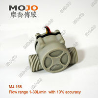 Free Shipping MJ 168 Hall Flow Sensor 1 2 Outside Treads Water Flow Sensor