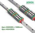 2 шт. 100% Оригинал Hiwin Линейная направляющая HGR20-L 1000 мм + 4 шт. HGH20CA узкий блок подшипника для частей cnc