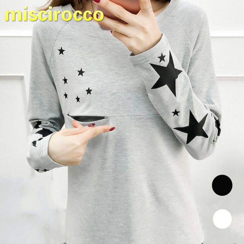 Lactation Clothes Spring And Autumn Cotton Maternity Clothings Lactation Top Women T-shirt Breast-feed Clothes