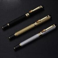 1pcs 0 5 0 8mm Iraurita Ink Metal Fountain Pen Business Gift Box Art Calligraphy Pen