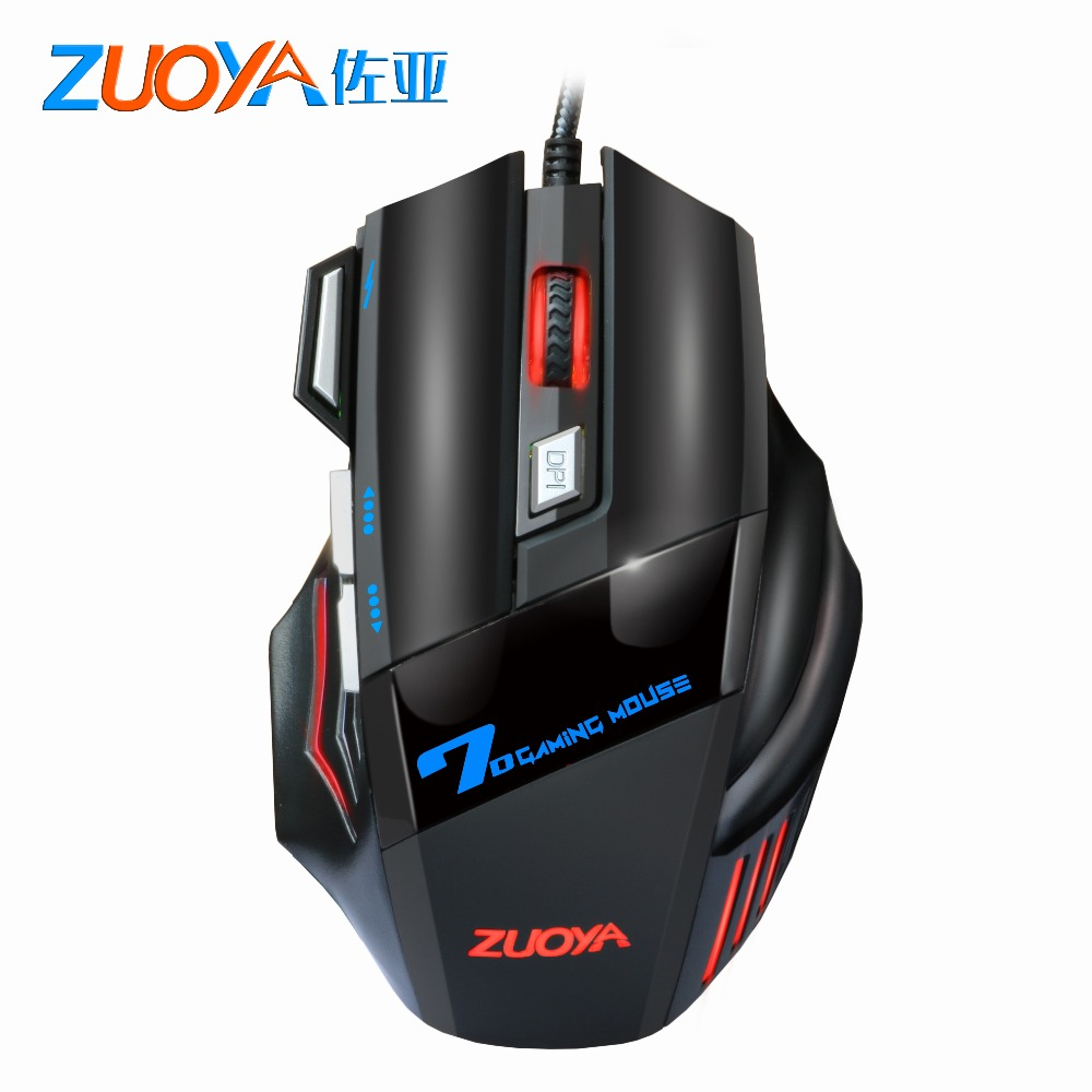 ZUOYA 5500 DPI Gaming Mouse 7 Button LED Optical Wired USB Mouse Mice Game Mouse Silent/sound