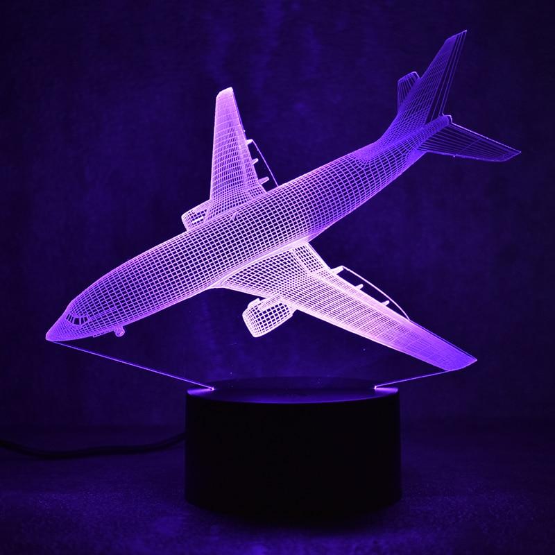 Nouveauté 3D Led Luminaire Coloré Luminaire USB Table Lampe Chevet - Veilleuses - Photo 6