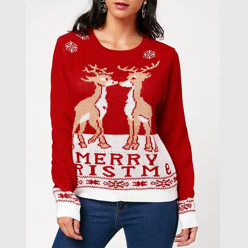LANGSTAR 2017 Autumn Christmas Cute Pullover Sweater Women Fashion ...