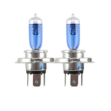 Комплект из 2 предметов H4 9003 HB2 P43t 60 W/55 W 12V 6500 к Высокий/Низкий Привет/ближнего и дальнего света для вождения автомобиля головной светильник замена галогенных ламп, H4 синий Стекло головной светильник