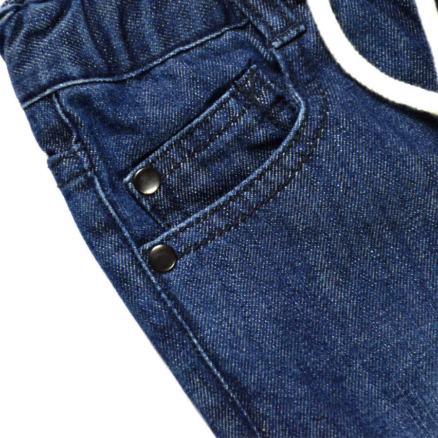 2017 Nuevo diseño niños primavera y otoño Denim Jeans niños pantalones casuales sólido elástico cintura pantalones niños ropa sólido 2 -6 años