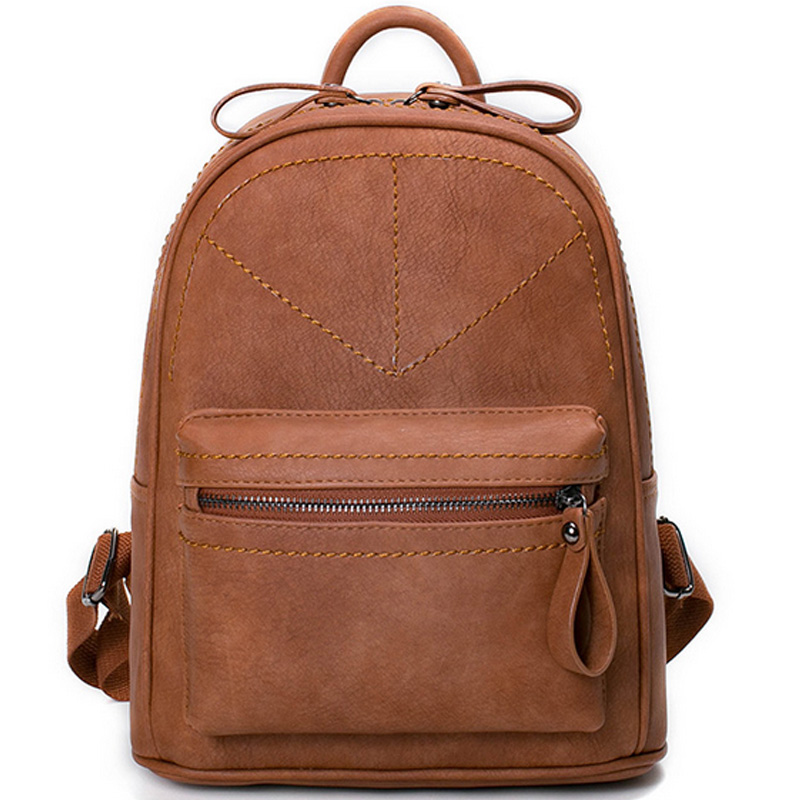 2017 Rotro Backpack Women PU Leather Bag Women Bag Small Women Backpack Mochila Feminina School Bags for Teenagers Mujer XA57B miwind new backpack women school bags for teenagers mochila feminina women bag free shipping leather bags women leather backpack