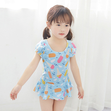 New Model 1-10 year Kids Girls one piece Swimsuit Baby Swimwear Flower pattern Bathing Suit Swim Wear Swimming children suits недорго, оригинальная цена