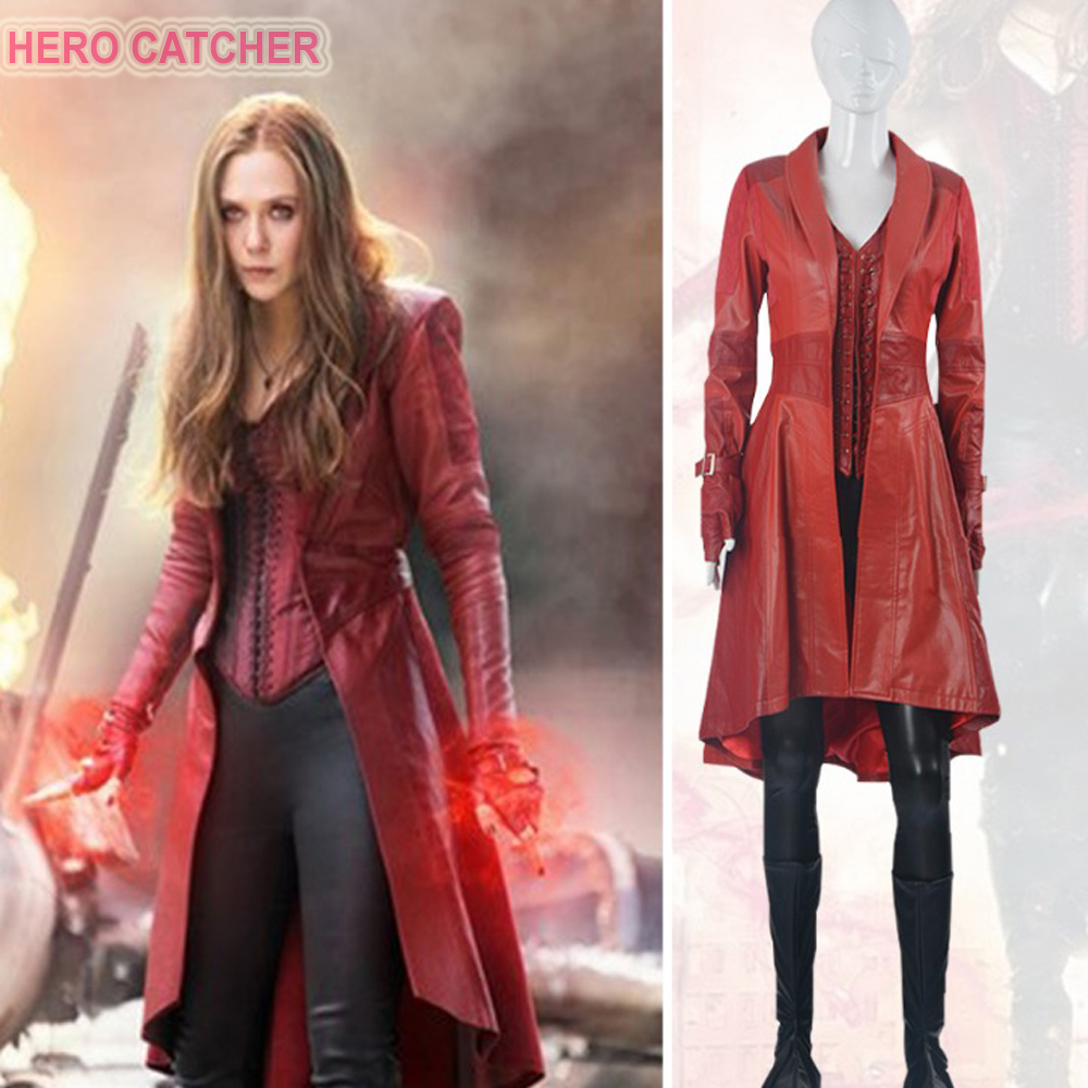 Hero Catcher High Quality Custom Made Captain America: Civil War Scarlet Witch Cosplay Costume Scarlet Witch Costume