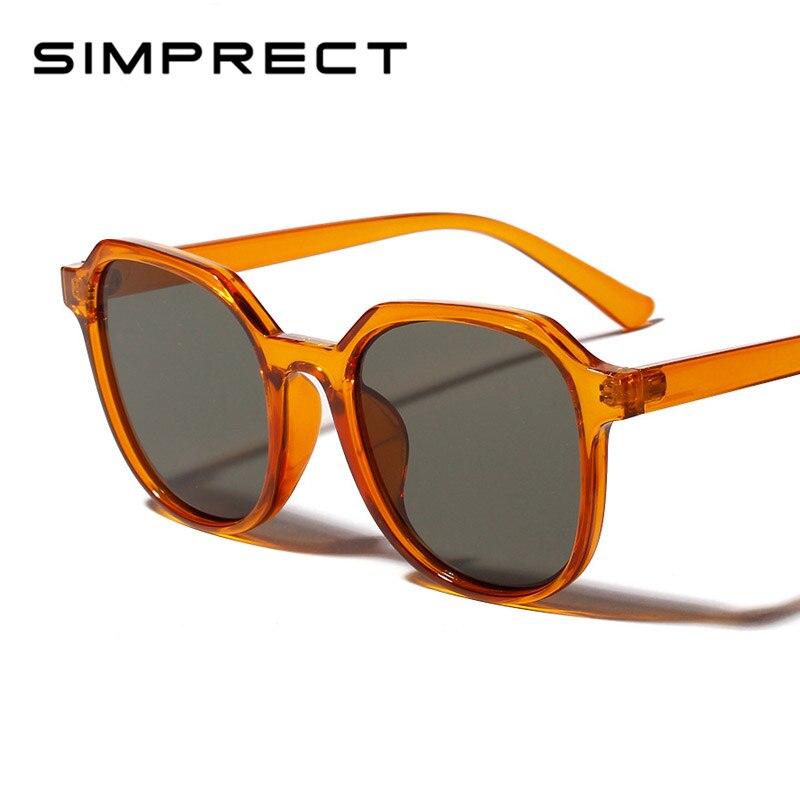 3bb7ff9e7 SIMPRECT 2019 Quadrados Óculos De Sol Mulheres Homens Moda Shades Quadro  Transparente Óculos de Sol Da Marca Do Vintage Para Mulheres UV400 Gafas
