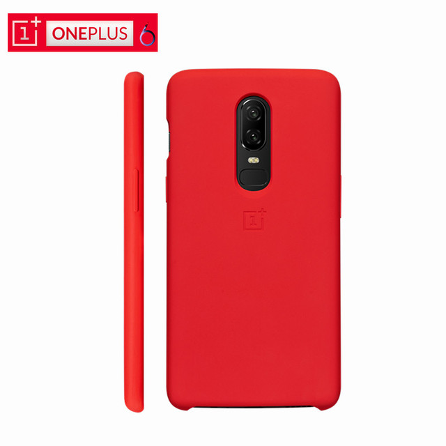info for a14ce a1e64 US $34.99 |Official Cover OnePlus 6 Silicone Protective Case Original Red  One Plus 6 Silicone Case OnePlus6 PC Hard Back Protective Shield-in ...