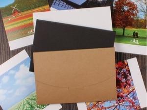 Image 2 - 50pcs/lot 3 Colors Vintage Blank Kraft Paper DIY Multifunction Envelope postcard box Package paper wholesale