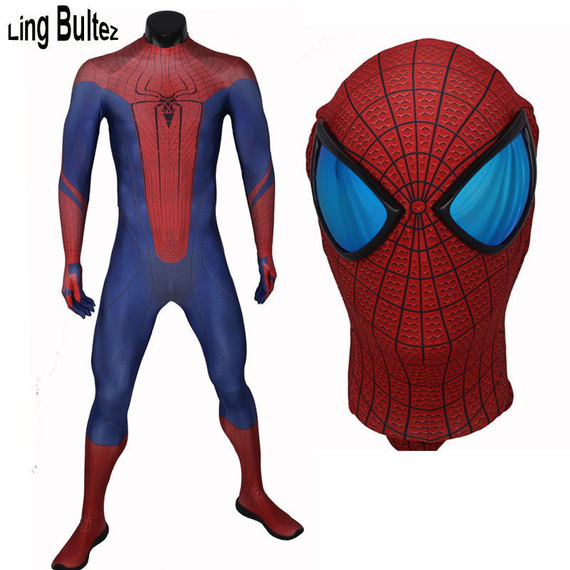 Ling Bultez High Quality New Arrive Amazing Spiderman Costume ASM 1 Suit Adult Spandex Spiderman Cosplay