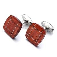 Luxus Holz Manschettenknöpfe Qualität Marke Schmuck Quadrat Palisander manschettenknöpfe Für Herren Beste Geschenk Formale Geschäfts hochzeit manschettenknopf