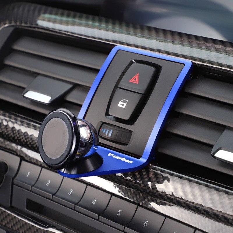 3 cores Mobile Phone Holder Para BMW 2 3 4 Série GT F22 F23 F30 F31 F34 F32 F33 F34 f35 F36 F80 F82 M4 2013-2019 Com um LOGOTIPO M