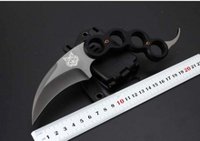 Small Tactical Knife.Karambit Hunting Fixed Knives,9Cr18Mov Blade G10 Handle Camping Survival Knife,