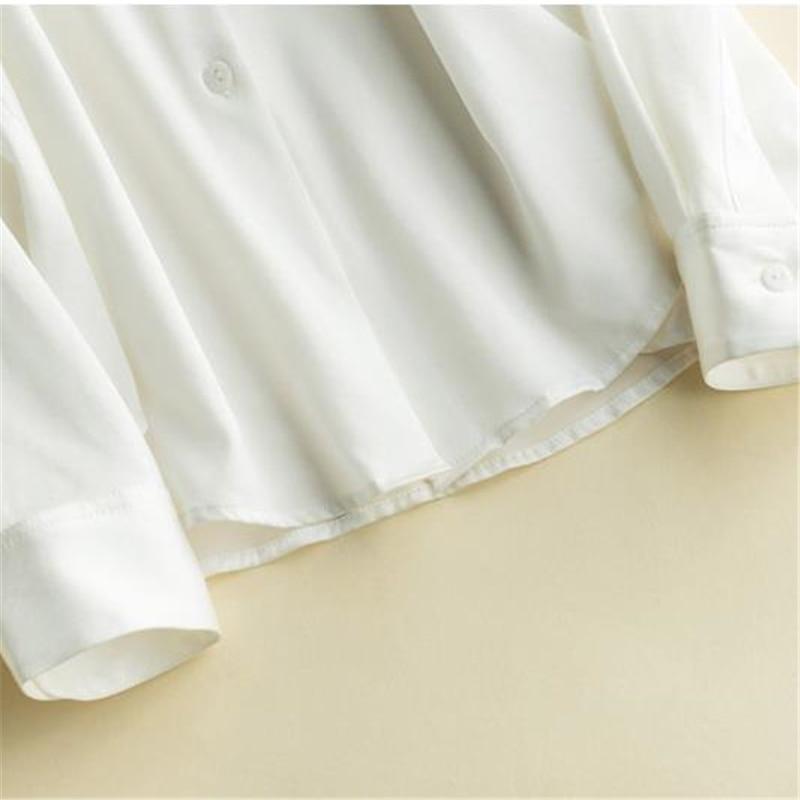 Otoño green Verano Seda Camisas Blouse Gran Femenino red 93 Primavera Transpirable Señora white Mujer blue Black Tops Shirts Blusa Cardigan La Camisa De Silk Tamaño Tees Shirt 1X6qExw1I