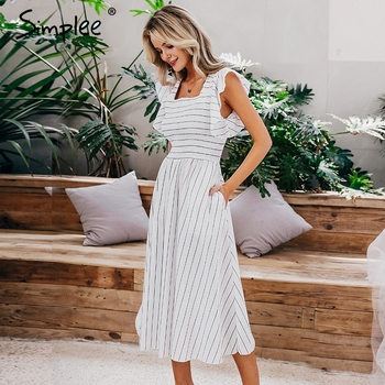 White Vintage striped