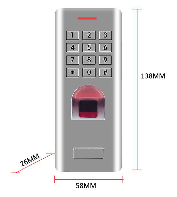 RFID Waterproof IP66 Fingerprint access control with keypad Anti-Hit support ID card /finger can as reader WG26 output