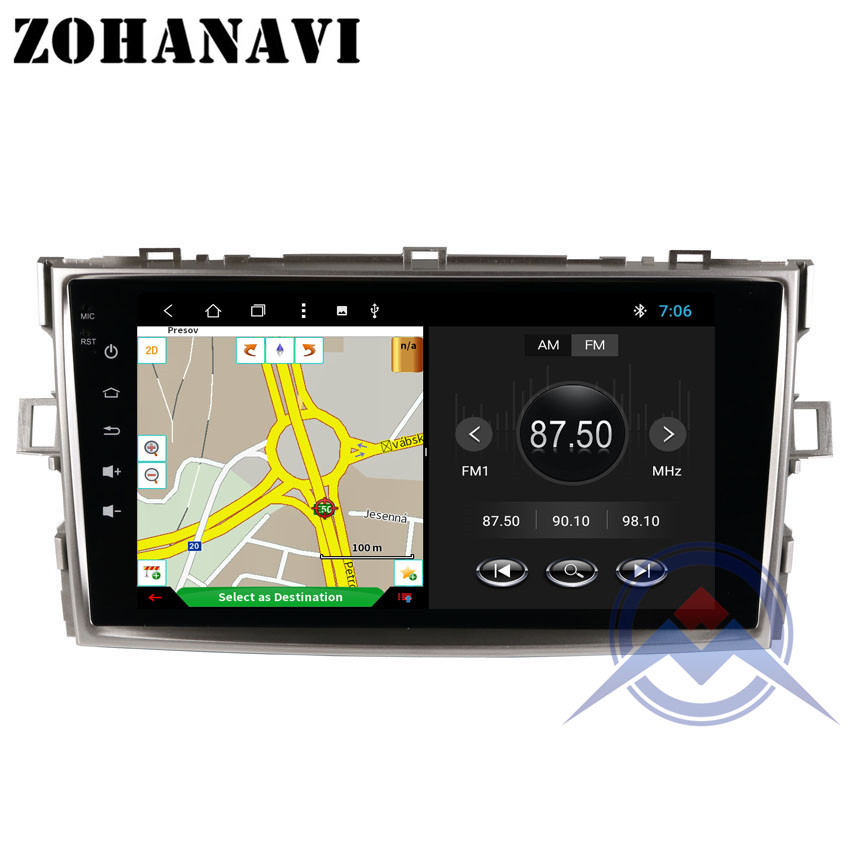 ZOHANAVI Octa core Android 8 1 Car Radio for Toyota Verso EZ 2007 2008 2009 2016