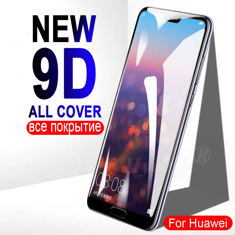 9D עבור Huawei P20 P30 לייט אור מזג זכוכית מסך מקרה על עבור Huawei Mate 20 לייט 10 20 פרו אור P10 כיסוי מגן סרט