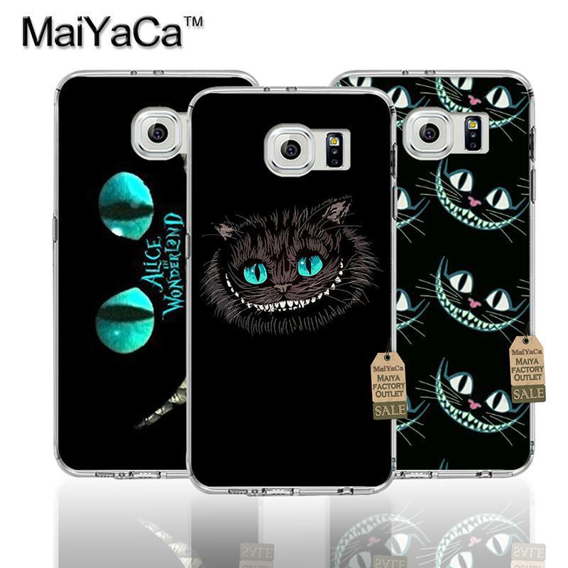 Animales alice in wonderland cat accesorios del teléfono de tpu transparente sua