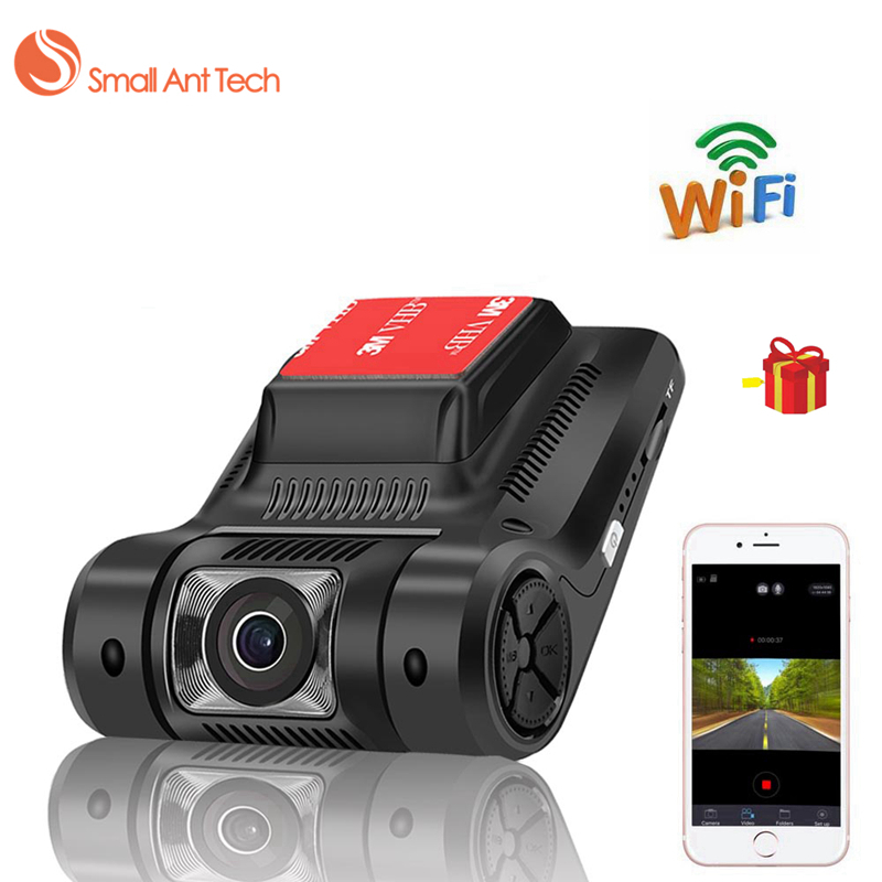 SmallAntTech Car DVR Wifi Dash Camera Cam Recorder Monitor Novatek 96658 Sony IMX323 Camcorder Registrator Full HD Night Version junsun novatek 96655 car dvr camera video recorder full hd 1080p wireless wifi app manipulation imx 322 dash cam registrator