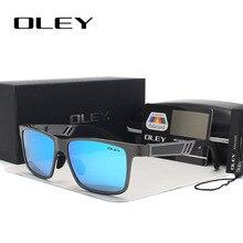OLEY gafas de sol polarizadas de magnesio y aluminio para hombre, lentes rectangulares para conducir, masculinas