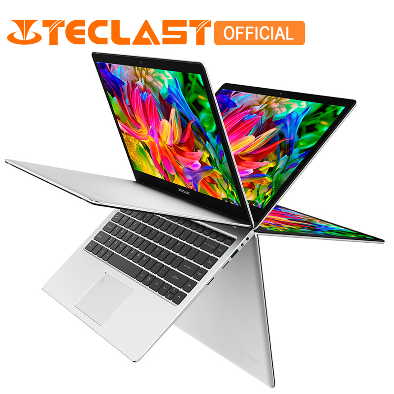 Teclast F6 Pro 13.3 pouce Ordinateur Portable Intel Core m3-7Y30 Dual Core 8 gb RAM 128 gb SSD Windows10 Rotatif D'empreintes Digitales portable