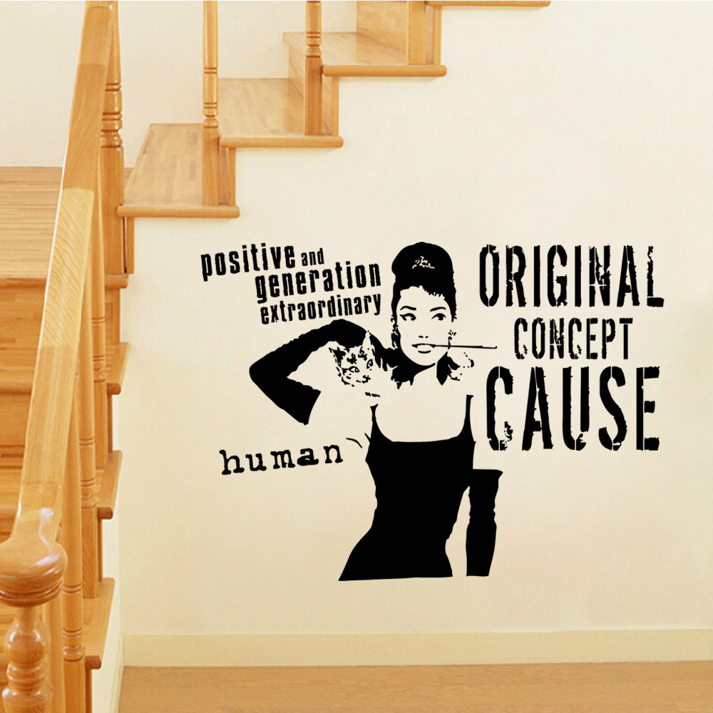 Audrey Hepburn Wall Art popular audrey hepburn wall stickers art-buy cheap audrey hepburn