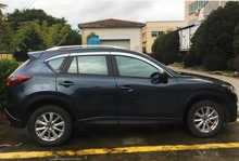 ABS Chrome plastic Window Visor Vent Shades Sun Rain Guard car accessories for Mazda CX-5 CX 5 2013 2014 2015 2016 car styling