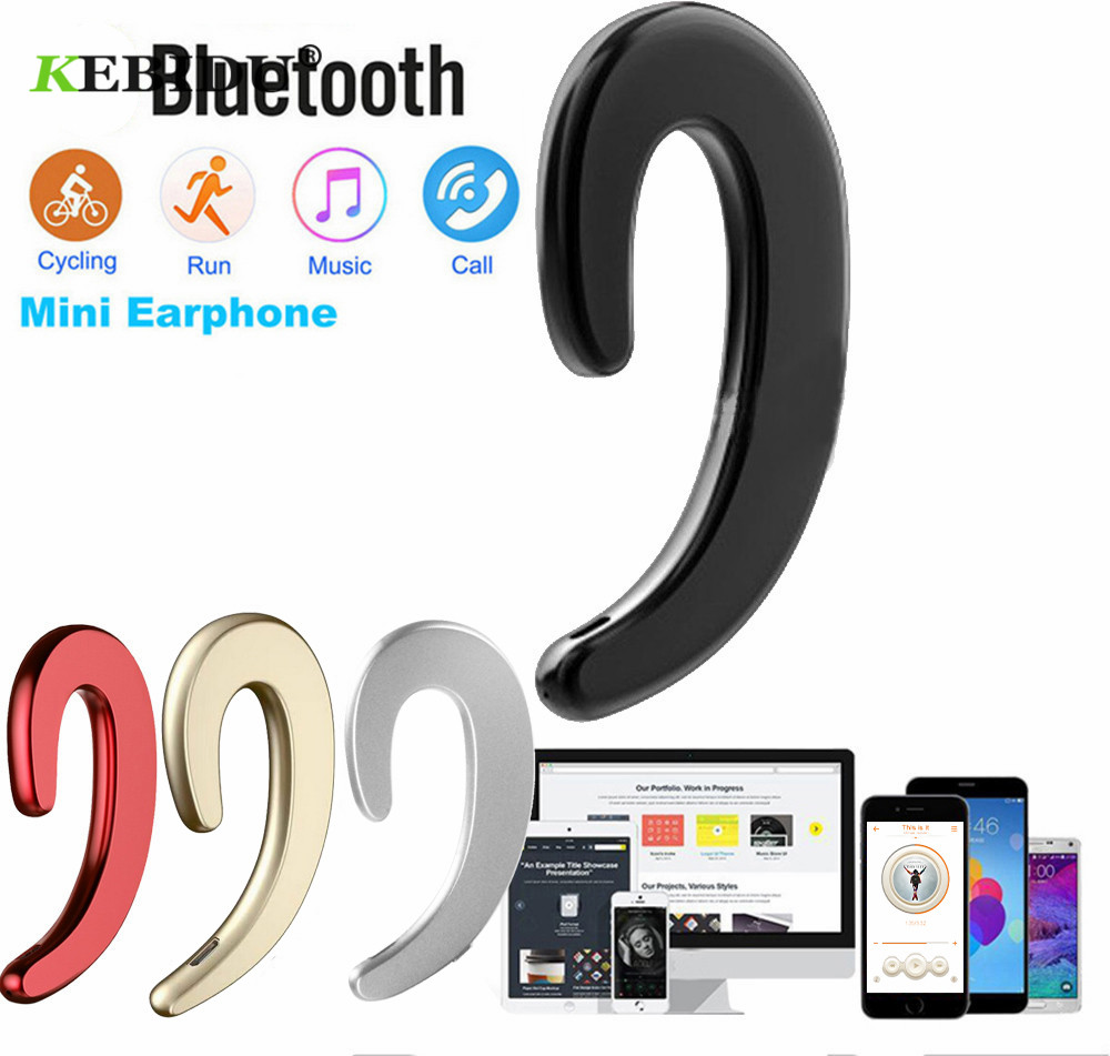 KEBIDU V4.2 Bluetooth Wireless Headphones Bone Conduction earphone Sports Headset Stereo for laptop Tablet XIAOMI iphone 7 8 X