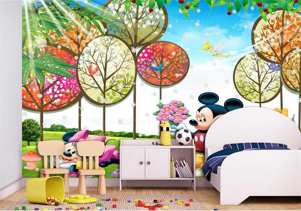 Fototapete kinderzimmer baum  Preis auf Mickey Wallpaper Vergleichen - Online Shopping / Buy Low ...