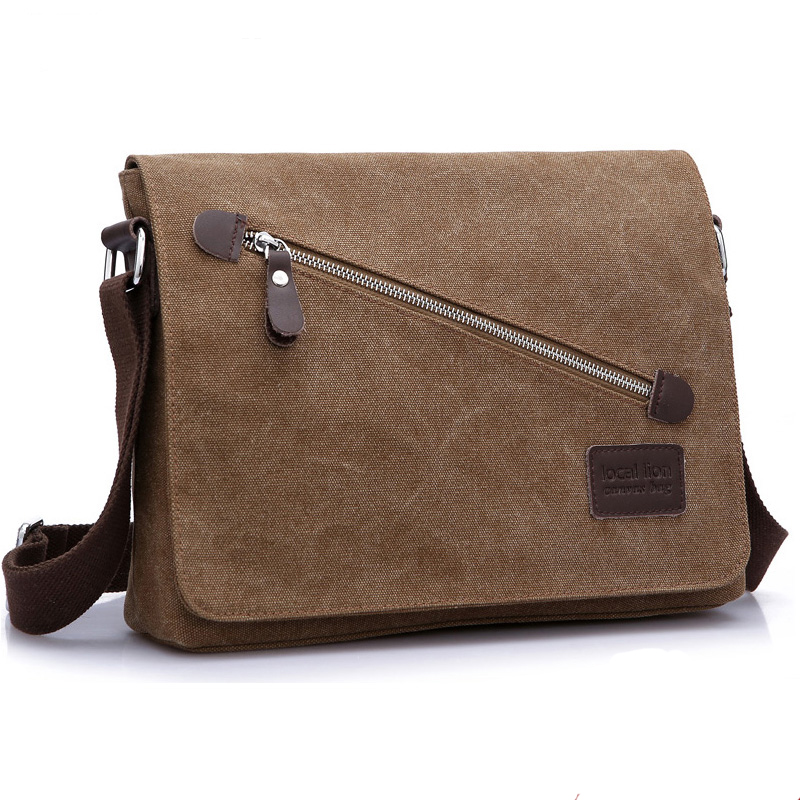 52d7035840 Fashion 2018 Men s Messenger Bags Canvas School Shoulder Bags Travel  Teenager Boys Casual Men Business Briefcase Crossbody Bags
