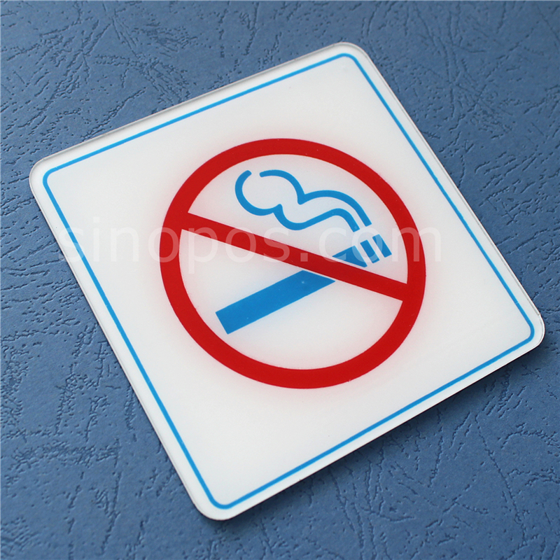 Adhesive Acrylic No Smoking Sign Door Signage Wall Window Non Smoking Tobacco Free Panel Smoke Prohibited Banner Sticker Poster Plaques Signs Aliexpress