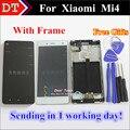 """Alta qualidade New substituição para Xiaomi mi 4 m4 mi4 LCD Display + Touch Screen digitador telefone celular 5.0 """" branco preto com quadro"""